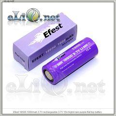 [15A] Efest IMR18500 1000mah (Purple) 2014 - flat top - Высокотоковый аккумулятор