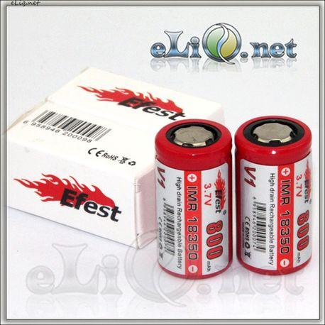 Efest IMR18350 800mah with flat top. Аккумулятор без защиты