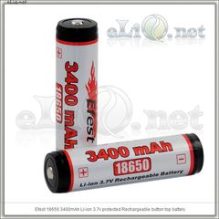 Efest 18650 3400mah Protected Li-ion battery with Nipple. Защищенный литий-ионный аккумулятор
