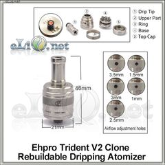 Ehpro Trident V2 RDA - ОА для дрипа из нержавеющей стали, клон.