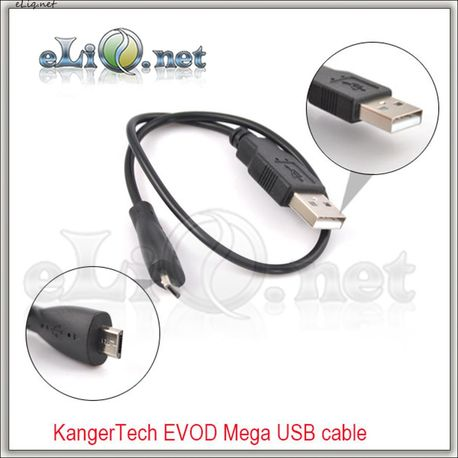 Usb Cable for KangerTech EVOD Mega & IPOW 2 Battery & Samsung