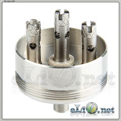 База с тремя стойками для Innokin iTaste VF RDA - ОА для дрипа из нержавеющей стали.