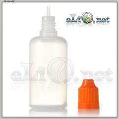 50ml LDPE / PET needle tip dropper  Пустой прозрачный флакончик с тонким носиком и крышкой с защитой от детей. Китай