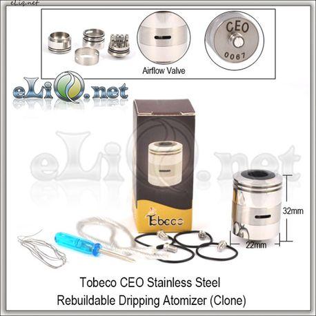 Tobeco CEO RDA - ОА для дрипа из нержавеющей стали. клон.