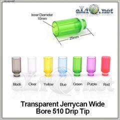 [510] Широкий  прозрачный пластиковый дрип-тип.