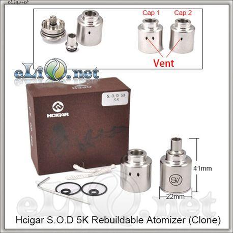 Hcigar S.O.D 5K RDA - ОА для дрипа из нержавеющей стали. Клон.