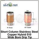 [510] Широкий маленький дрип-тип из нержавеющей стали и меди / нержавеющей стали и латуни.