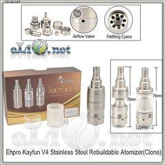 Kayfun V4 RBA Rebuildable Atomizer Kit (Обслуживаемый атомайзер, клон кайфуна 4 версия) Tobeco