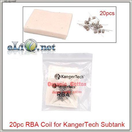 20шт намоток из органического японского коттона для KangerTech Subtank Mini и Subtank V2.