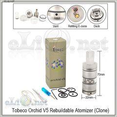 Tobeco Orchid V5 - обслуживаемый атомайзер. Орхидея.