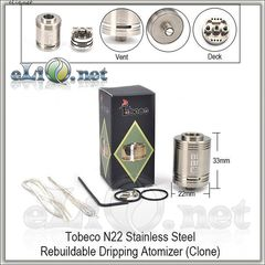 Tobeco N22 RDA - ОА для дрипа из нержавеющей стали. клон
