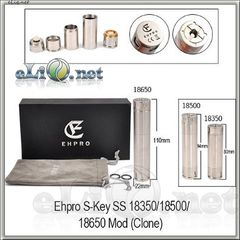 Ehpro S-Key SS 18650/18500/18350 механический мод, клон.
