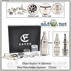 Ehpro Kayfun V4 RBA Rebuildable Atomizer Kit (Обслуживаемый атомайзер, клон кайфуна 4 версия)