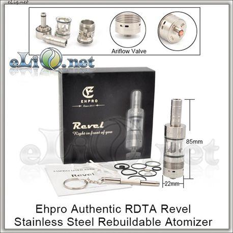 EHPRO Revel RDTA - обслуживаемый атомайзер-танк для дрипа.