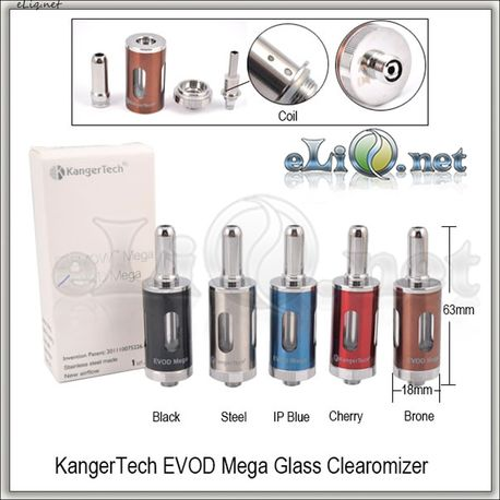 KangerTech EVOD MEGA Glass Clearomizer - клиромайзер