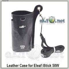 Оригинальный кожаный чехол с ремешком для  50W Eleaf iStick (Leather Case w/ Lanyard)
