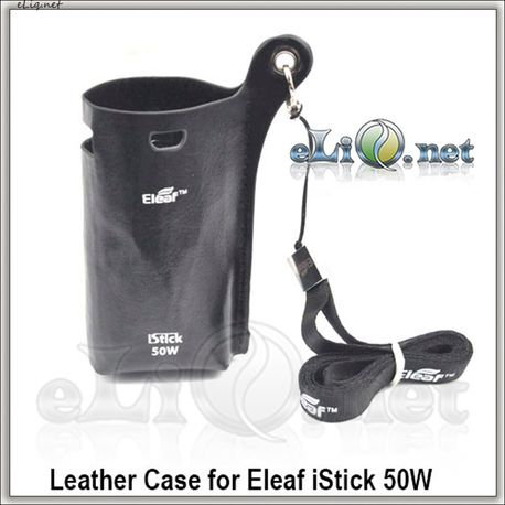 Кожаный чехол с ремешком для  50W Eleaf iStick (Leather Case w/ Lanyard)