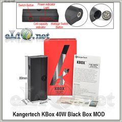 Black KangerTech K-Simar 20 VW 18650 Mod - МОД вариватт