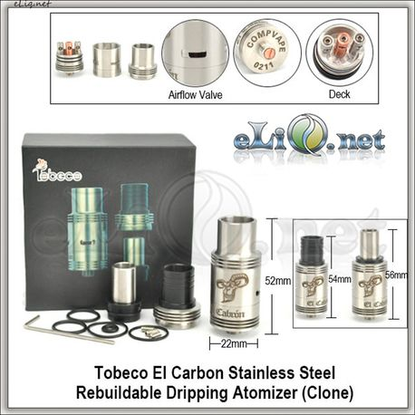 Tobeco El carbon RDA - ОА для дрипа из нержавеющей стали. клон.