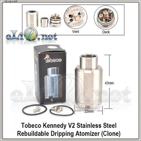 Tobeco Kennedy V.2 RDA - ОА для дрипа из нержавеющей стали. клон.