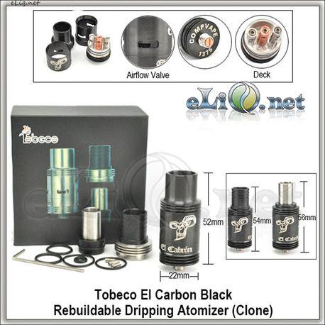 Tobeco El carbon Black RDA - Черный ОА для дрипа. клон.