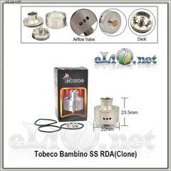 Tobeco Bambino RDA - ОА для дрипа из нержавеющей стали. клон.
