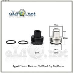 Type 1 Tobeco Aluminum Chuff Enuff Drip Tip (22mm) Верхняя часть с дрип-типом для атомайзера