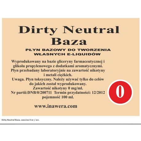 Dirty Neutral Base (0) Inawera