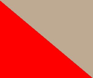 Красный с бежевым
