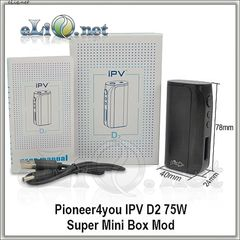 Pioneer4you IPV D2 75W Super Mini Box Mod - супер-мини-боксмод вариватт с температурным контролем.