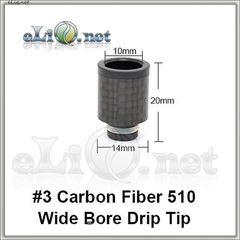 [510] N3 Carbon Fiber. Широкий дрип-тип с карбоновым покрытием.