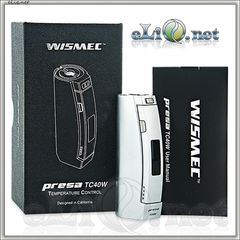 WISMEC Presa 40W TC box mod - мини боксмод-вариватт с температурным контролем.
