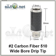 [510] N2 Carbon Fiber. Широкий дрип-тип из нержавеющей стали с карбоновым покрытием.