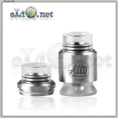28mm Chuff Enuff drip tip (glass+ss) type E / Верхняя часть с дрип-типом для атомайзера