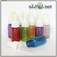 Бутылочки разноцветные с пипетками, 10 мл