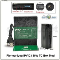 Pioneer4you IPV D3 80W Super Mini Box Mod - супер-мини-боксмод вариватт с температурным контролем.