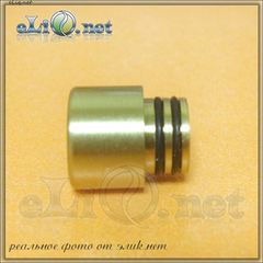 [510] Small Copper / Brass Drip Tip. Короткий медный / латунный дрип-тип.