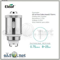 0.75ohm Eleaf GS-Air Pure Cotton сменный испаритель. GS Air 2 Atomizer & iJust Start & iJust Start Plus