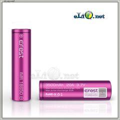 [20A] 3500mah Efest Purple IMR18650 - flat top - Высокотоковый аккумулятор без защиты + КЕЙС!!