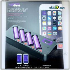Efest LUC BLU4 OLED/LCD Интеллектуальное четырехслотовое зарядное устройство c Bluetooth.