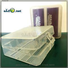 Soshine пластиковый кейс - футляр для 2х аккумуляторов 26650