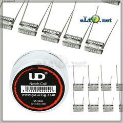 UD Notch Coil (SS316L, ID4.8X0.35ohm) Спирали начкоил
