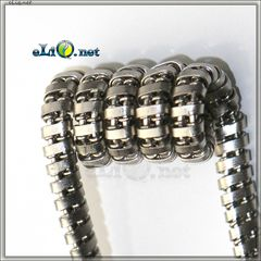 UD SS 316L Twisted SS 316L Fuse Clapton Coil (26Ga*2)*2+Ribbon. Твистед фьюз клэптон спирали.