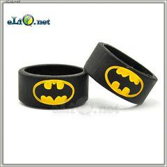 22 мм Batman Vape Band - широкое декоративное силиконовое колечко, препятствующее скольжению эл. сигареты. Бэтмен.