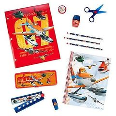 Набор канцелярских принадлежностей. Пенал и блокнот.Planes. Disney.: Fire & Rescue Stationery Supply Kit