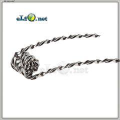 Kanthal A1 Tiger Coil (26ga / 0.4мм + 0.2*0.9 мм). 0.4 Ома. Намотка. Спираль из кантала. Тигр.