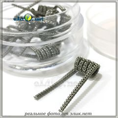 Staggered Fused Coil. 0.4 Ома. Намотка. Фьюзед спираль из кантала.