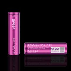 Efest IMR18650 2500mah (Purple) 2014 with flat top [35A] Высокотоковый аккумулятор