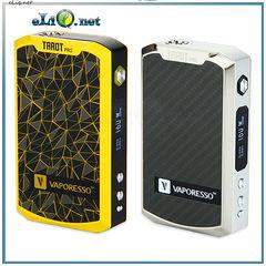 160W Vaporesso TAROT PRO VTC MOD - вариватт с ТК. Стальной и желтый.