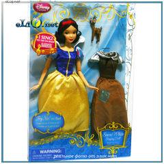 Поющая кукла принцесса Белоснежка с платьем и олененком (Disney). Игрушка Дисней оригинал США.